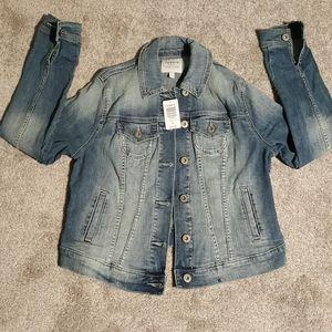 Torrid nwt destructed denim/jean jacket sz00